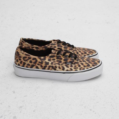 Vans Authentic Leopard (Black/Brown)