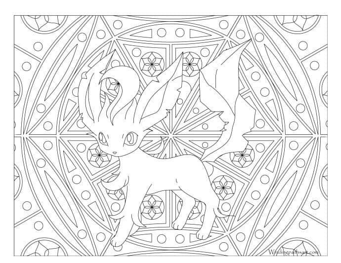 Leafeon in 2020   Pokemon coloring pages, Pokemon coloring ...
