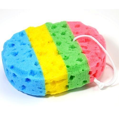 Bath Loofah Soft Oval Bath Sponge Body Wash Brush Scrubber Shower Exfoliating Massage Seaweed 1pc