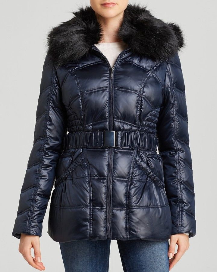 Laundry by Shelli Segal Jacket - Belted Quilted Puffer