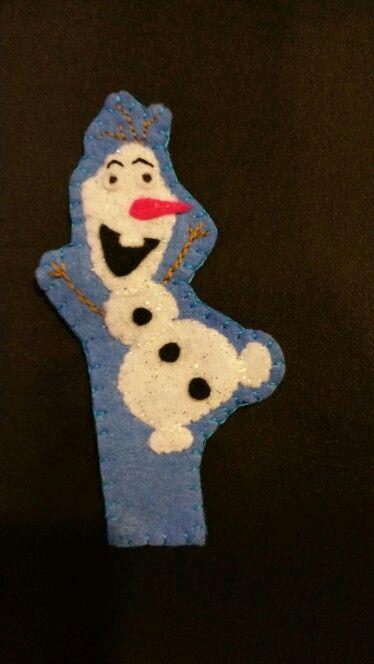 Felt bookmark - Olaf