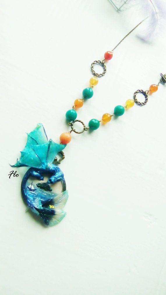 Cammeo drago marino di FlorArtClay su Etsy