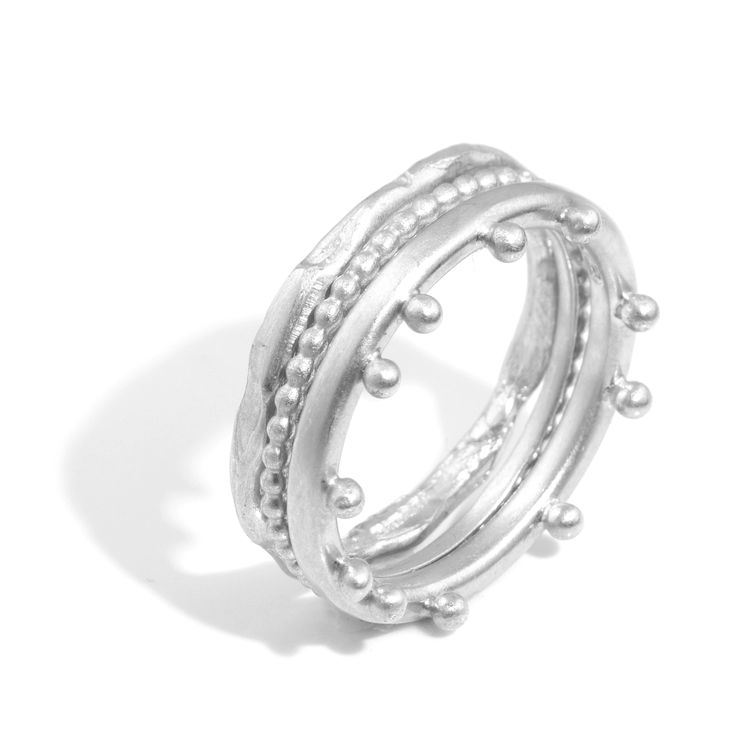 Silver Classic Stack   Contemporary Rings by contemporary jewellery designer Alison Macleod