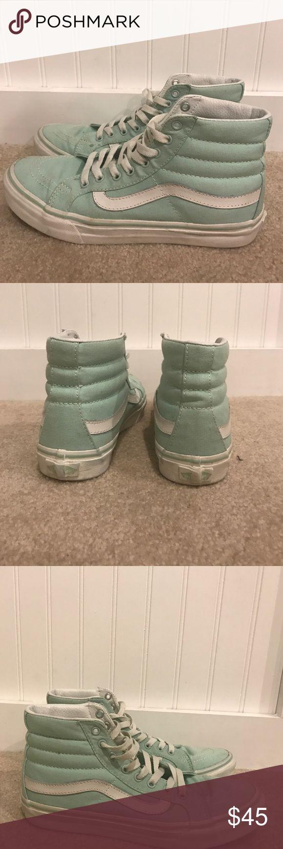 Sk8- HI teal vans slims Used, but only worn a handful of times. Vans Shoes Sneakers