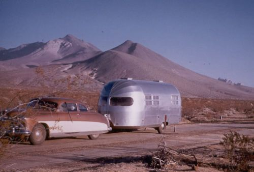 1952 Hudson Coupe Pulling A Air Stream Trailer Western US 5 x 7 Photograph | eBay