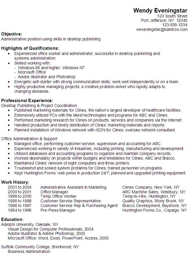 18 best Resume images on Pinterest Resume tips, Sample resume - sample resume for customer service rep