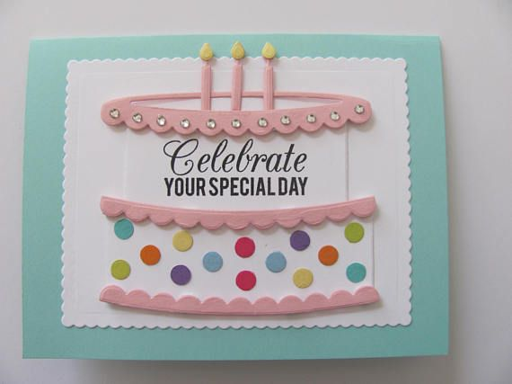 Birthday Cake Card Cake Birthday Card Happy Birthday Cards With
