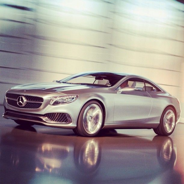 A vision of what the best car in the world might look like with a couple fewer doors. #ConceptSClassCoupe #conceptcar #Mercedes #Benz