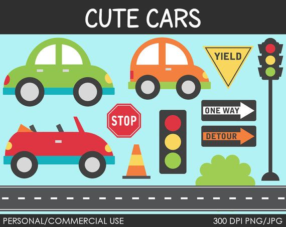 Cute Cars Clipart  Digital Clip Art Graphics for by MareeTruelove