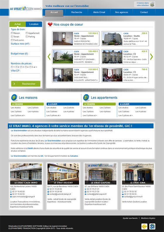 Site Internet de l'agence Caen-Immo (Le Strat)