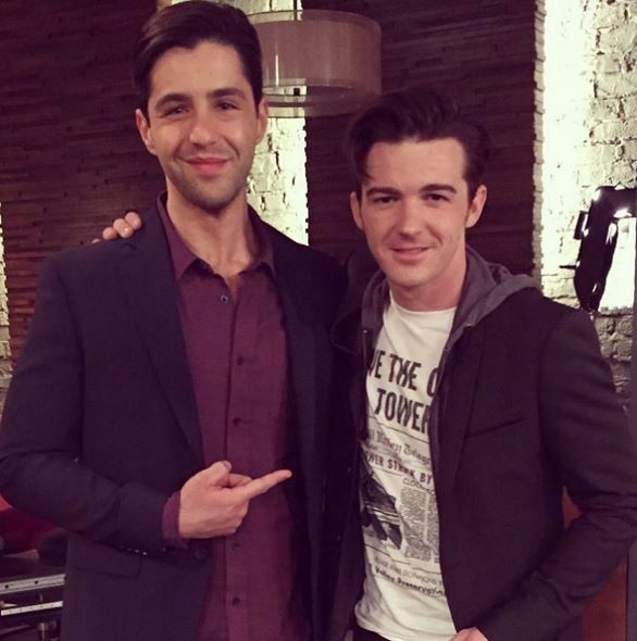 Drake Bell and Josh Peck reunited on the set of Josh's new show, Grandfathered.