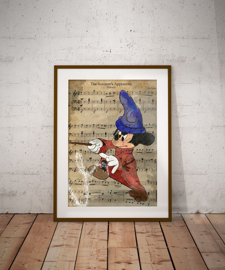 Fantasia Micky Mouse The Sorcerer's Apprentice Wall Art Print