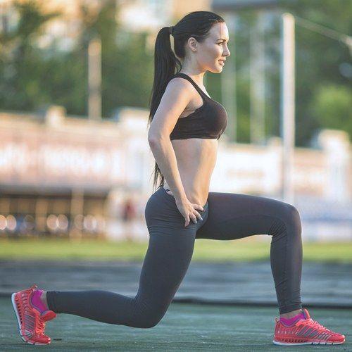 Mit dem Ausfallschritt werden Oberschenkel und Beine trainiert.
