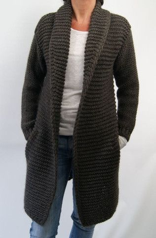Womens Hand Knit Cardigan.78D