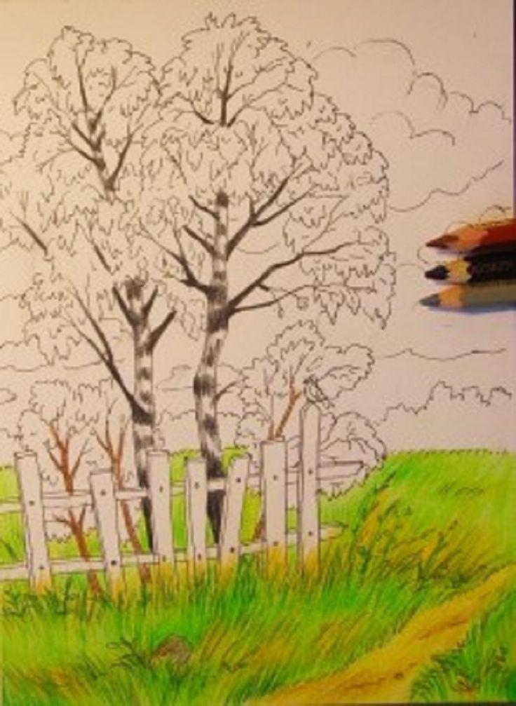 Осенние картинки нарисовать пошагово, днем рождения открытка