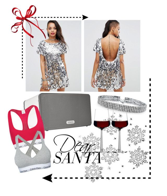 """Dear santa"" by amandablomqvist on Polyvore featuring Motel, Sonos, Bling Jewelry, iittala and Calvin Klein"