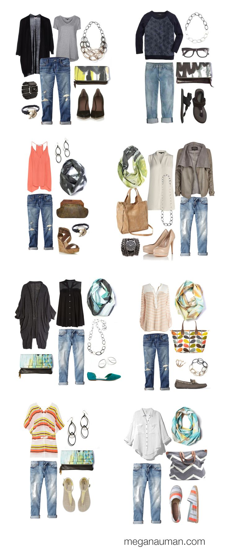 8 ways to wear boyfriend jeans // click through for outfit details (plus lots more outfit inspiration)