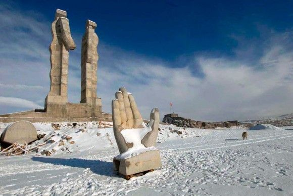 A Hulking Sculpture Meant to Promote Turkish-Armenian Reconciliation