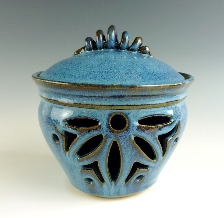Stoneware pottery garlic keeper jar |Pinned from PinTo for iPad|