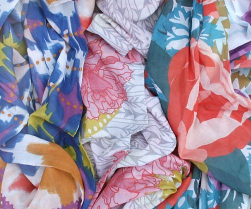 LOVE ash patterned scarves I'd like to make these into living room pillows :)