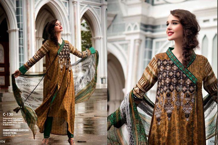 Gul Ahmed Angrakha Styles | Angrakha Dresses Designs | Angarkha Style Frocks ~ Clothing9 | Latest Clothes Fashion Online Dress Designers