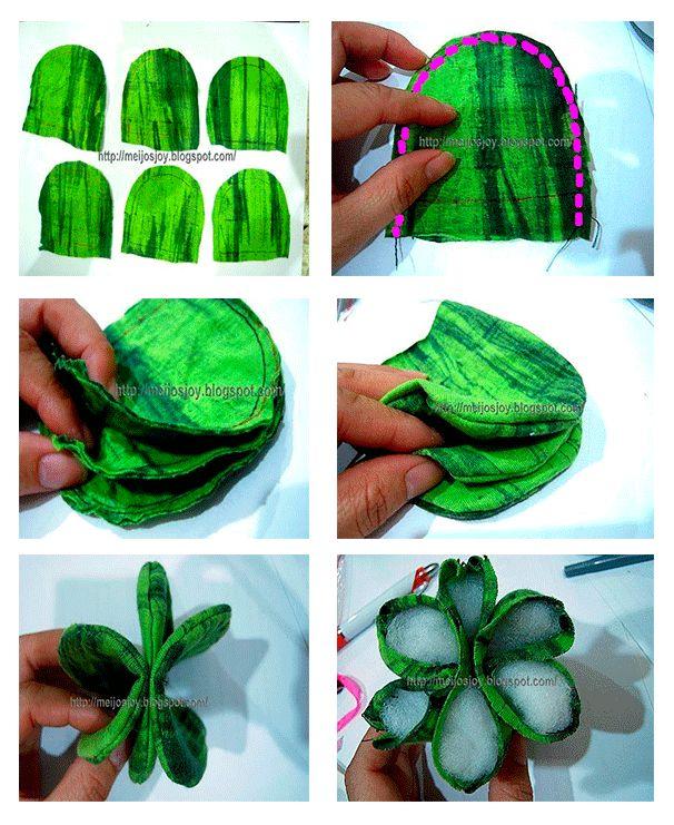 Como hacer un cactus de fieltro paso a paso