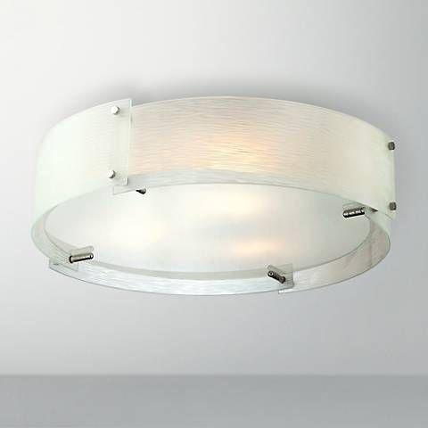 Lite source kaelin flush mount 21 chrome ceiling light w7496 lamps plus