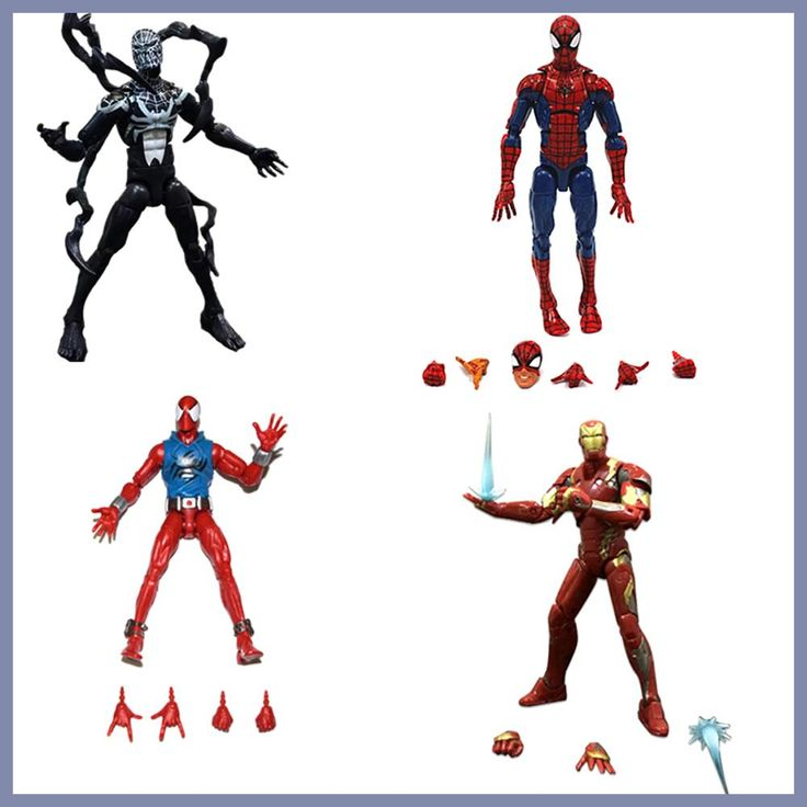 Marvel Legends Infinite Series Toy Pizza Spiderman Venom SCARLET SPIDER Iron MAN Super Hero Action Figure Model Toys Gift Dolls