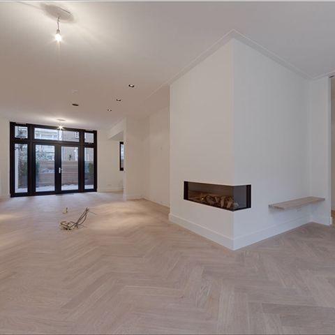 houten visgraat vloer. misschien iets te licht