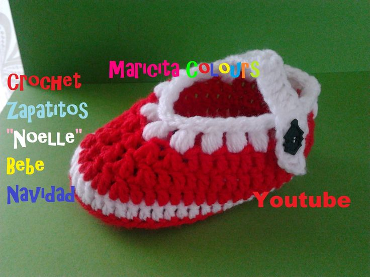 Crochet Tutorial Bebe Zapatitos Noelle (Parte 1) Escarpines por ...