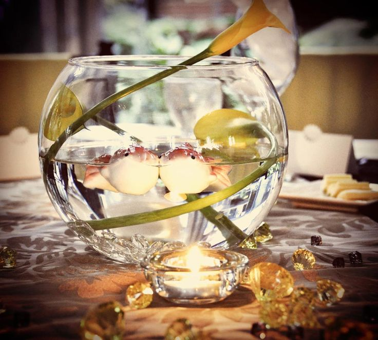 Cheap Centerpieces For Christmas Gathering Events : Cheap Flower  Centerpiece Ideas Diy Wedding Centerpieces   NO CREEPY FISH