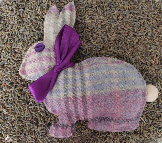 Bunny Lavender Bag in Pink Lilac Blue or Green by DaisyBelleShop