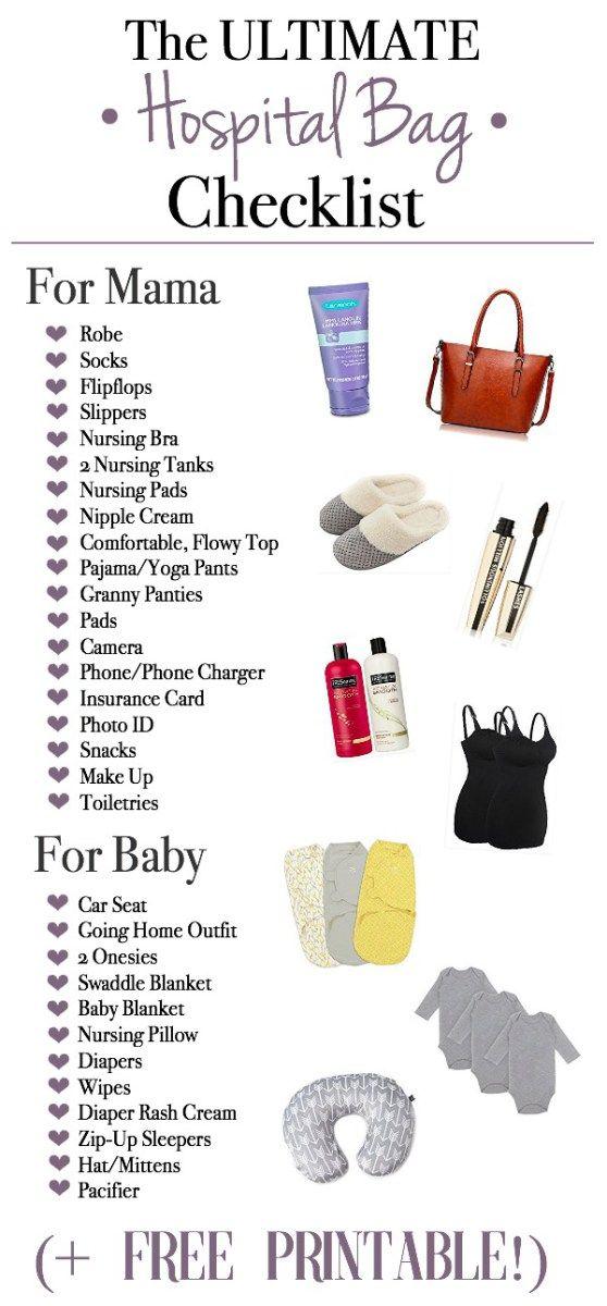 pregnancy hospital bag checklist pdf