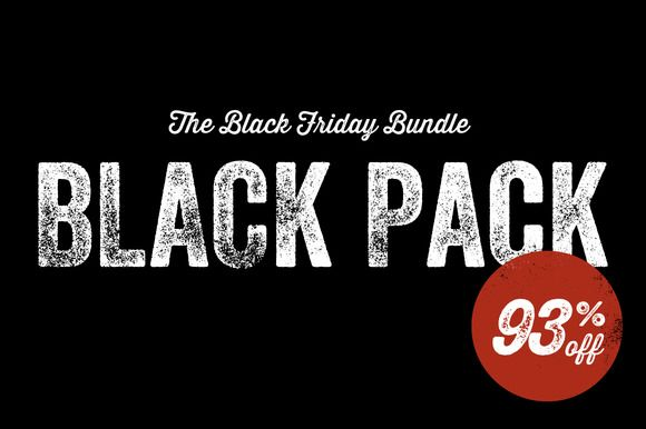 The Black Pack - Discount Bundle by Offset on Creative Market