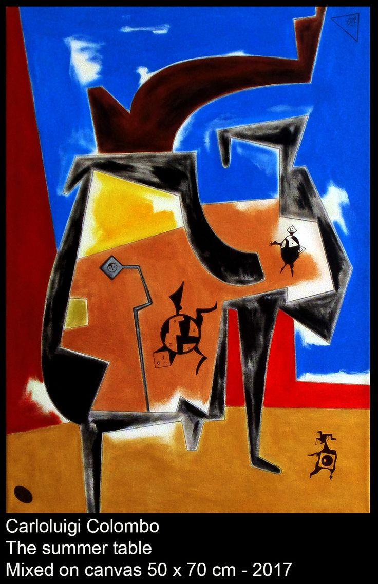 summer, table, italian, Riolo Terme, Carloluigi Colombo, acrylic, italy, painting, art, arte, still life