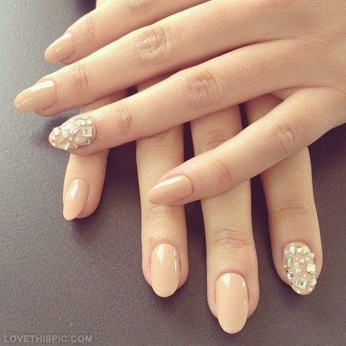 Dimonds Nails : diamond nails fashion girly nails girl stylish nail art beige nails nail trends