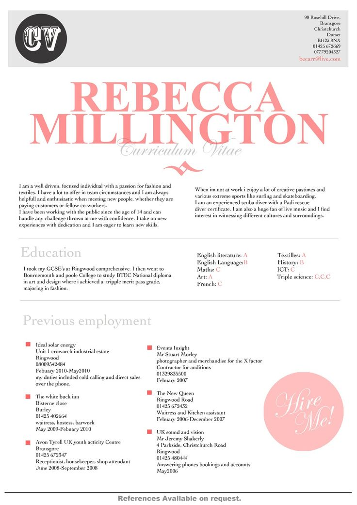 11 best CV Design images on Pinterest Resume design, Cv design - font for a resume