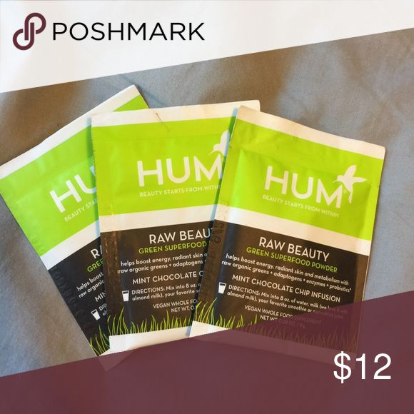 Hum nutrition powder 3 of there these packets. Brand new