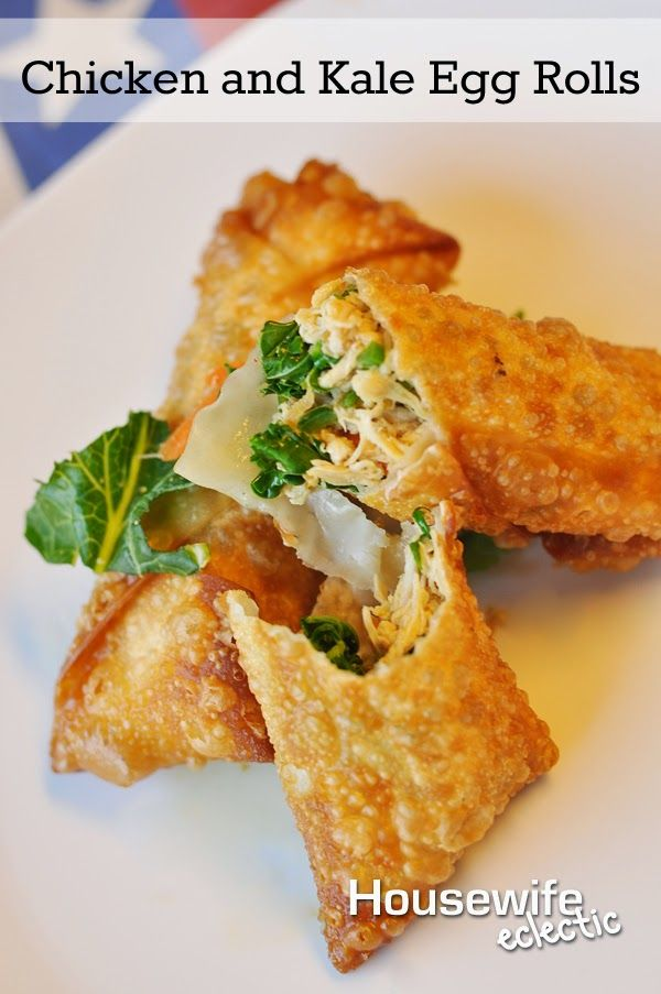Housewife Eclectic: Chicken and Kale Egg Rolls