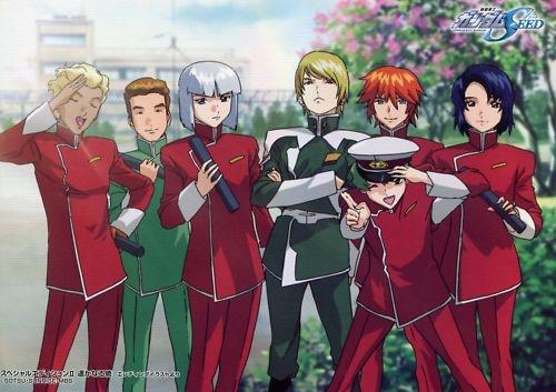 Gundam seed big postcard  official promo Japan Athrun Zala , Yzak Joule , Dearka Elsman , Nicol Amalfi