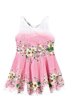 Vestido floral infantil Carinhoso