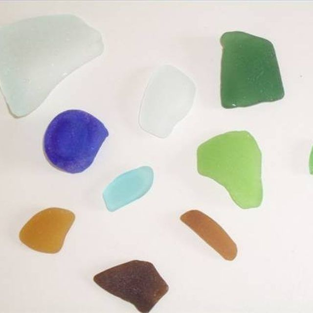 Sea glass found in Long Beach Island, New Jersey
