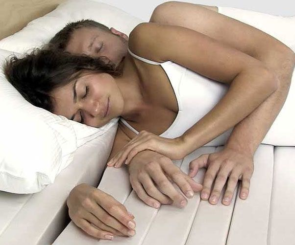 Snuggle the night away without risking any arm or wrist injuries with the cuddle mattress. The intrepid design allows the big spoon to insert their arm into the mattress, eliminating any potential strain on the limb. It's the ultimate mattress for couples.