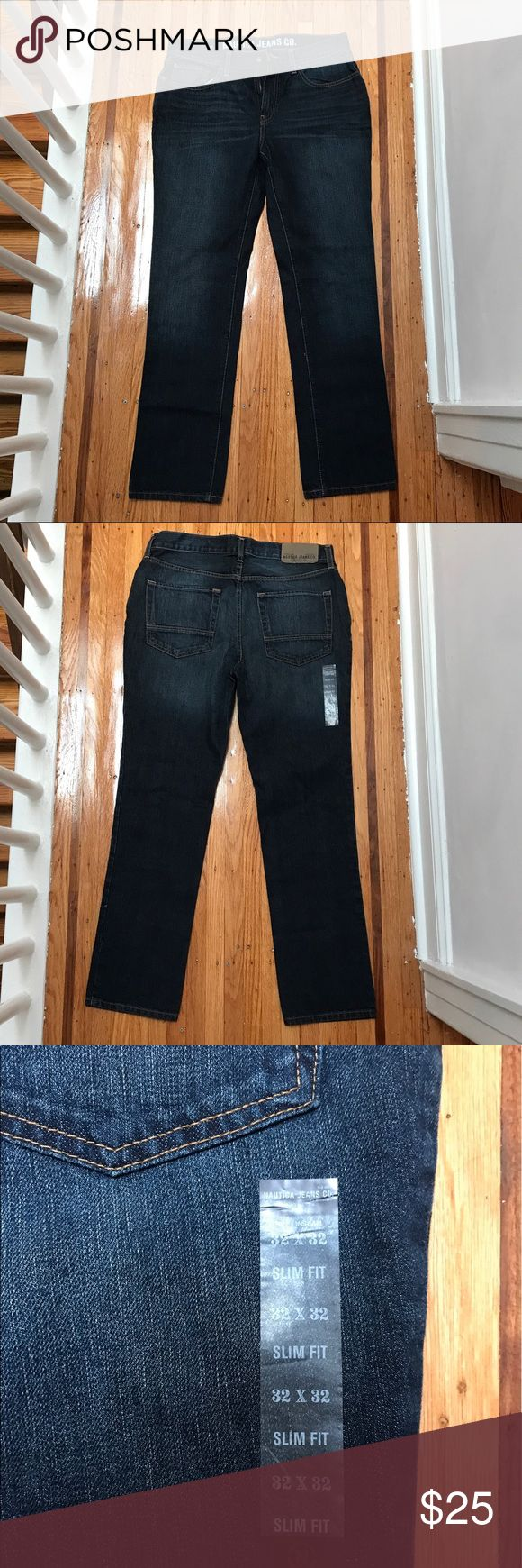 NWOT Nautica Jeans -  Mens Brand new w/o tags Nautica Jeans - men's   Size: 32WX32L Slim fit Medium wash   Father's day coming up 👕 👔👖Perfect to give as a present for birthdays or father's day! Comes from pet free/smoke free environment. Check out my other men's items! ✨Bundle to save ✨ Nautica Jeans Slim