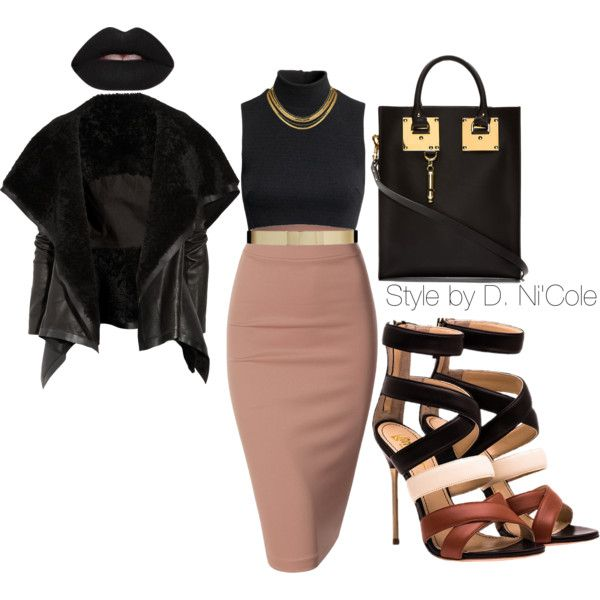 A fashion look from November 2014 featuring H&M tops, Rick Owens jackets and Doublju skirts. Browse and shop related looks.