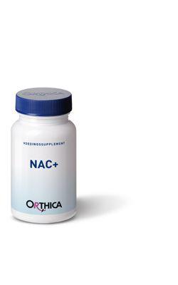Orthica NAC  30 capsules - N-Acetyl-cyste�ne (NAC) is een voorloper van intracellulair cyste�ne en glutathion. Riboflavine en molybdeen dragen bij aan een optimale werking van dit supplement.