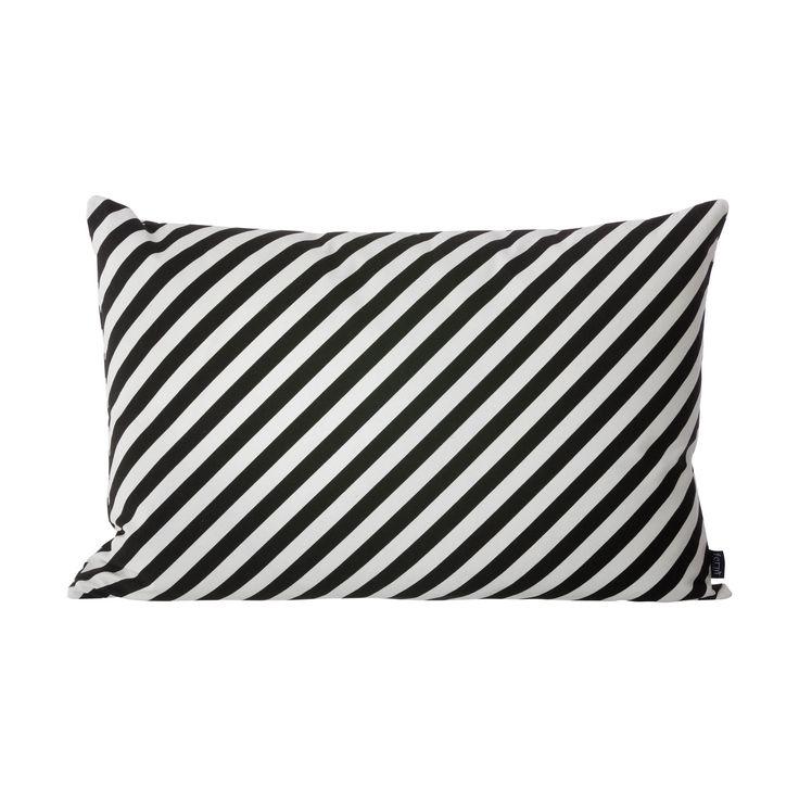 Ferm Living Cushion – Black/White Stripes