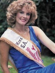 Andrea Stelzer, miss south africa 1985 also miss germany 1989 and represented germany in the miss universe