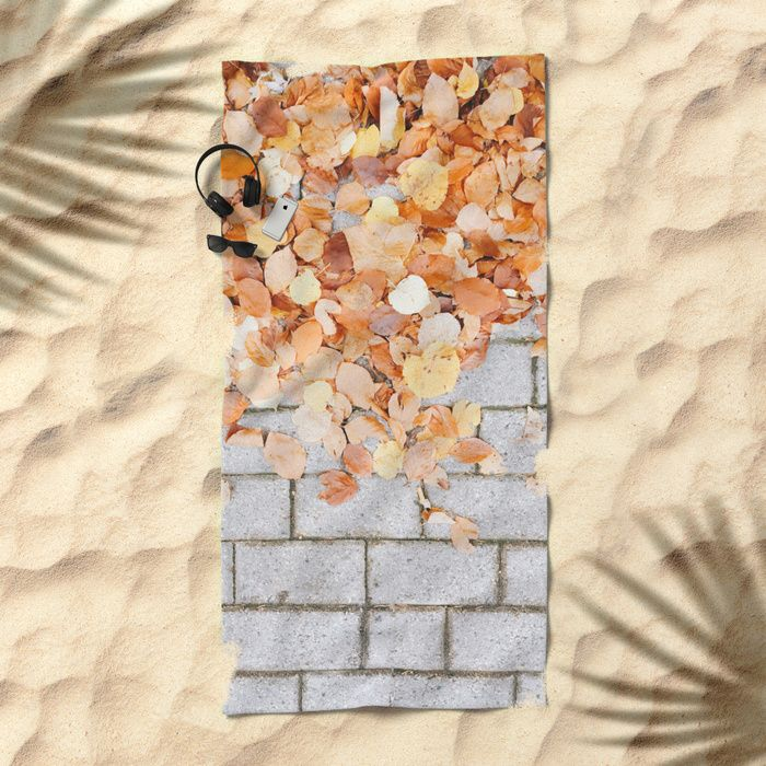 Orange Fall Beach Towel by Lost & Found Studio | Society6  #leaf #leaves #fall #autumn #nature #tree #colours #colors #outdoor #street #photography #orange #autumnleaves #autumnleaf #beach #beachtowel #swimming #pool #summer #vacation