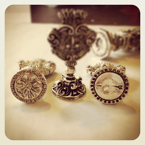 Silver Plated Italian Designs Wax Seal Stamp - LetterSeals.com - 1